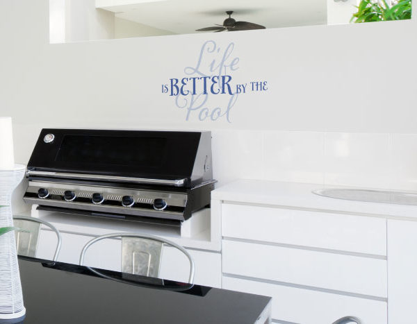 Life is Better by the Pool Wall Decal