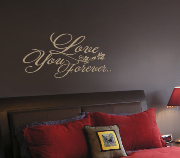 Love You Forever Wall Decal