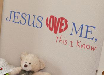 Jesus Loves Me Design - WiseDecor Wall Lettering