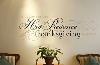 Let Us Come Before His Presence With Thanksgiving Psalm