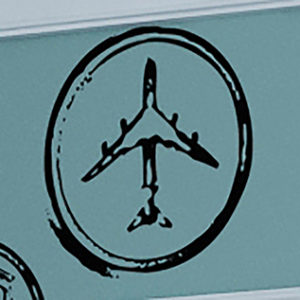 Airplane Stamp Wall Decal