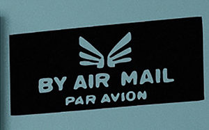 By Air Mail Par Avion Wall Decal
