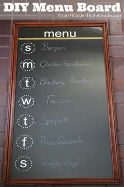 Chalkboard Menu Letters Wall Decal