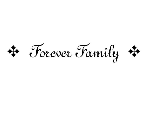 Forever Family Wall Decal