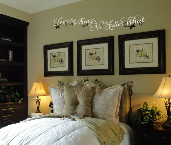 Forever for Always and No Matter What Wall Decal