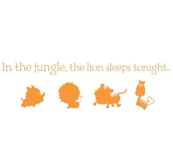 In the Jungle, the Lion Sleeps Tonight Wall Decal