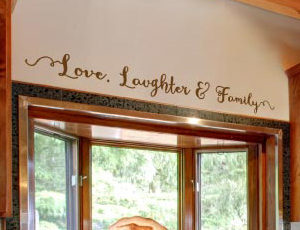 Love, Laughter and Family Wall Decal