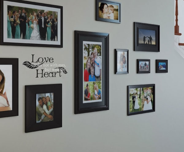 Love Looks Not with Eyes, but with the Heart  Wall Decal