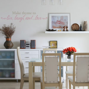 Make Thyme to Live, Laugh and ...Love Wall Decal