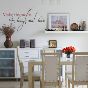 Make Thyme to Live, Laugh and...Love Wall Decal
