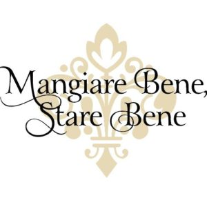 Mangiare Bene, Stare Bene Wall Decal