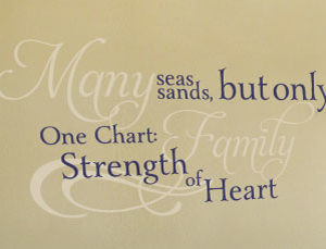 Many Seas, Many Sands, but only One Chart Wall Decal
