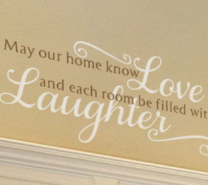 May Our Home Know Love Wall Decal