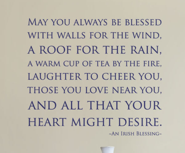 May You Always Be Blessed With Walls for the Wind Wall Decal