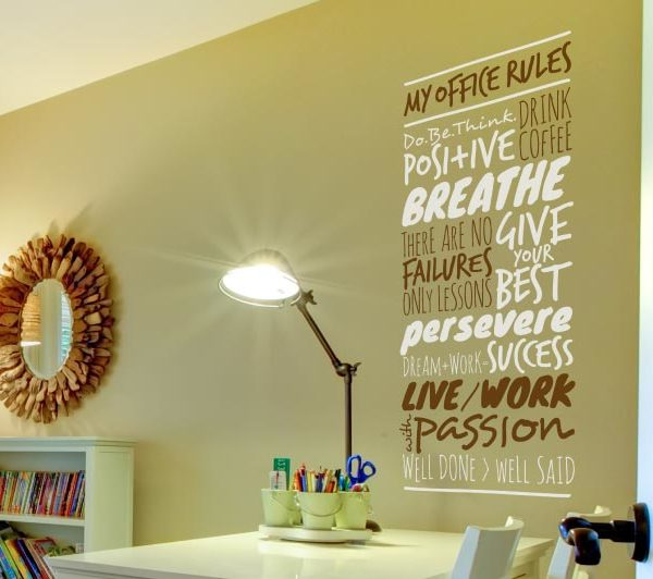 My Office Rules. Give Your Best. There Are No Failures Wall Decal