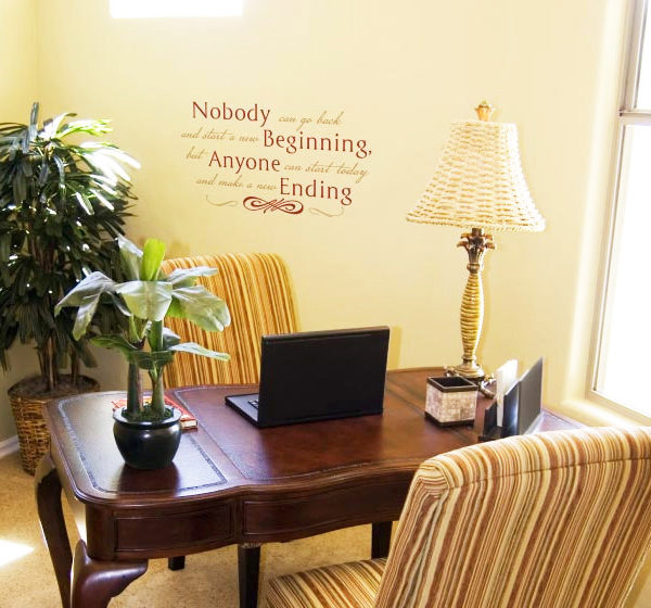 Nobody Can Go Back and Start a New Beginning Wall Decal