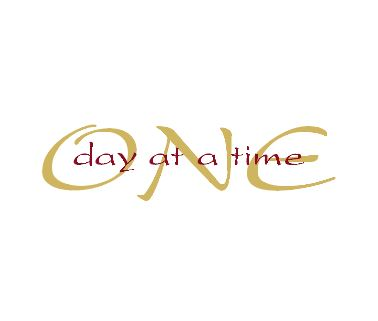 One Day at a Time Wall Decal