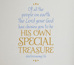Of All the People on Earth Wall Decal