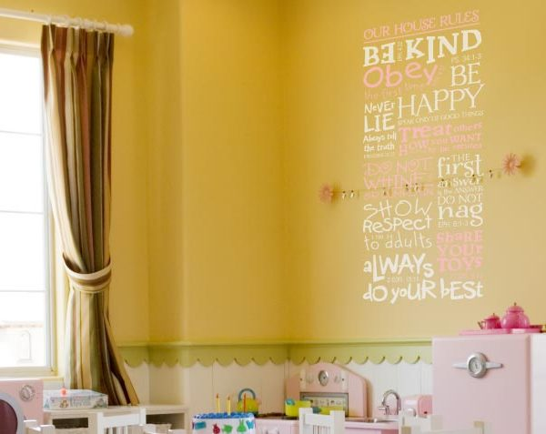 Our House Rules. Be kind. Speak Only of Good Things Wall Decal