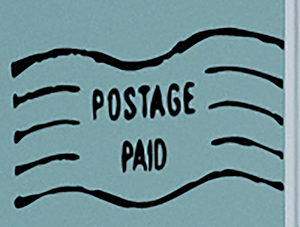 Postage Paid Wall Decal