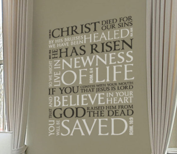 Christ Died for Our Sins. By His Bruises We Have... Wall Decal