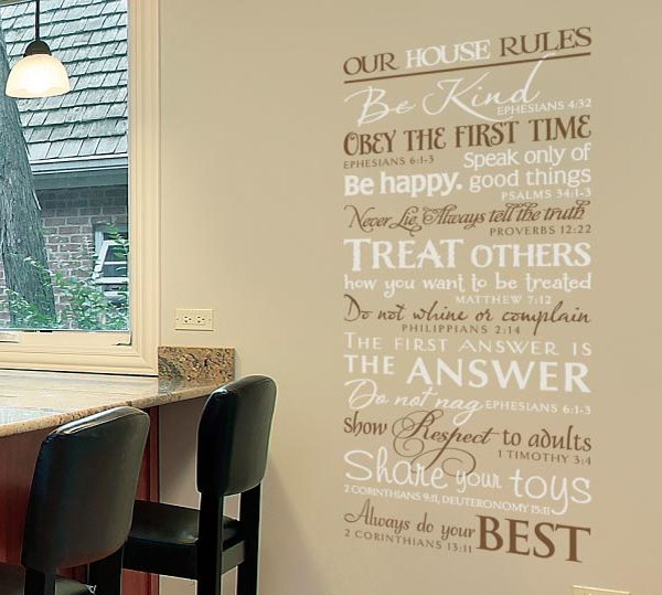 Our House Rules. Be Kind. Be Happy. Share Your Toys Wall Decal