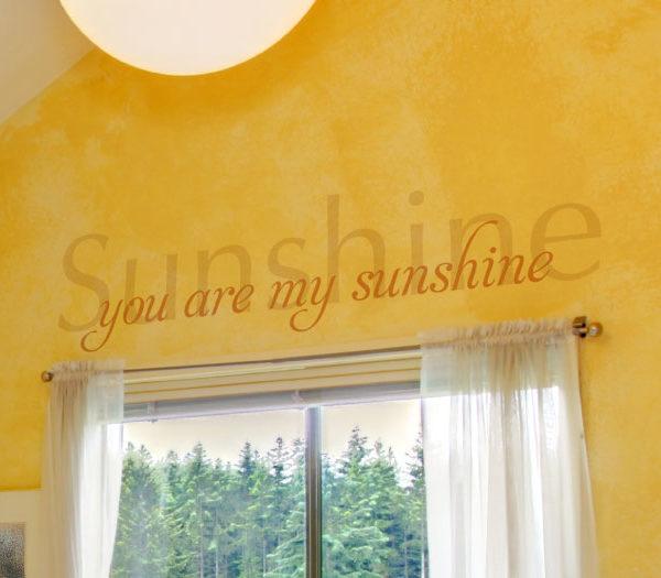 Sunshine, you are my sunshine Wall Decal