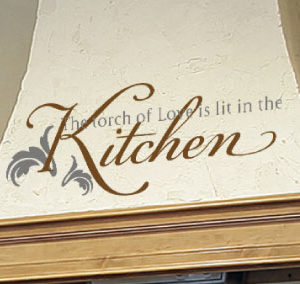 The Torch of Love is Lit in the Kitchen Wall Decal
