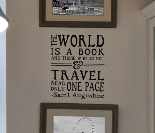 The World is a Book Wall Decal
