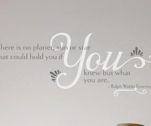 There is No Planet, Sun or Star Wall Decal