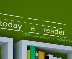 Today a Reader, Tomorrow a Leader Wall Decal