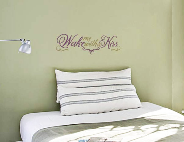 Wake Me with a Kiss Wall Decal