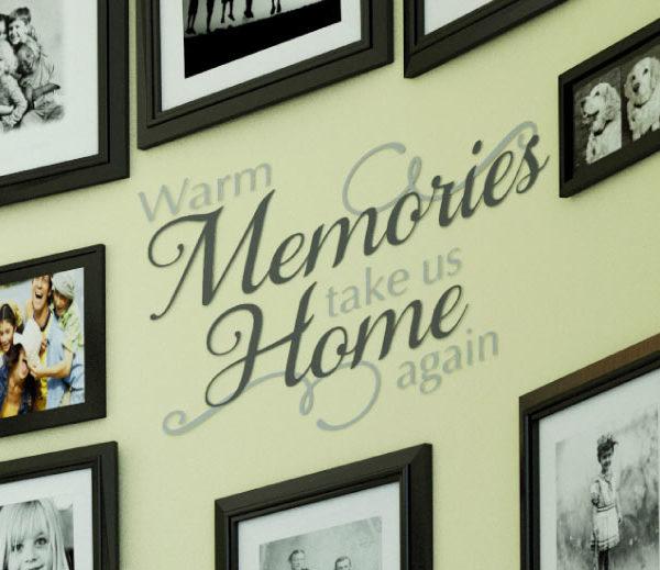 Warm Memories Take Us Home Again Wall Decal