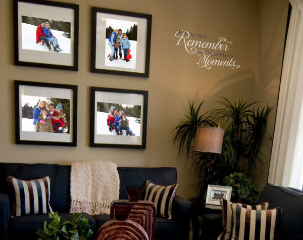 We Do Not Remember Days. We Remember Moments Wall Decal