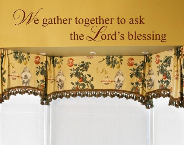 We Gather Together to Ask the Lord's Blessing Wall Decal