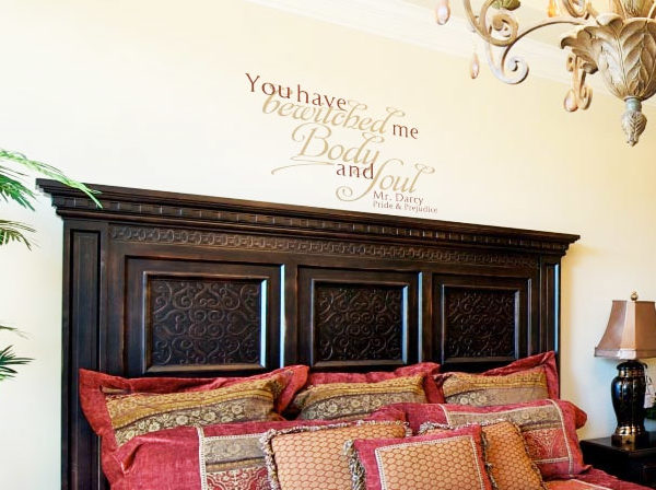 You Have Bewitched Me Body and Soul Wall Decal