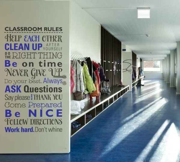 Classroom Rules. Help Each Other. Clean Up After Yourself. Wall Decal