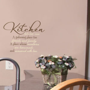 Kitchen. A Gathering Place for Friends and Family Wall Decal