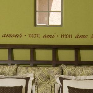 Mon Amour Mon Ami Mon Âme Soeur Wall Decal
