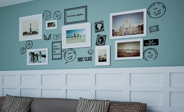 Time Postage Stamp Photo Wall Decal