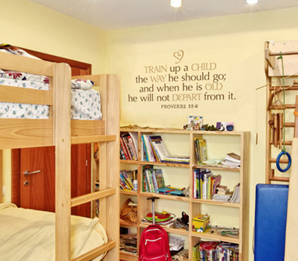 Train Up a Child the Way He Should Go Wall Decal