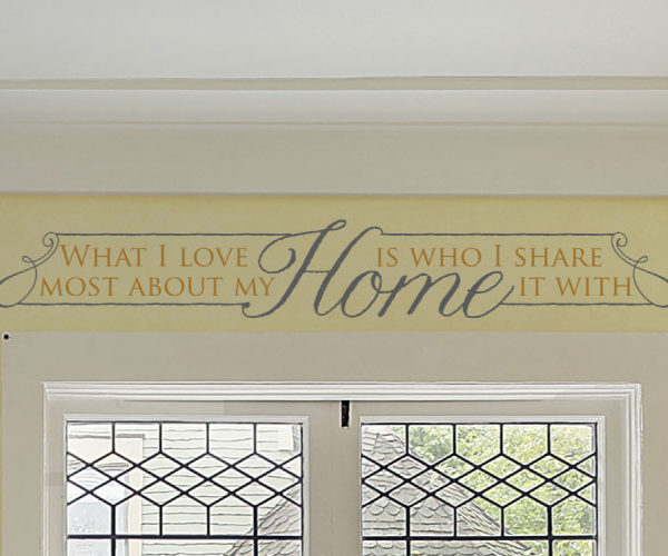 What I Love Most About My Home Wall Decal