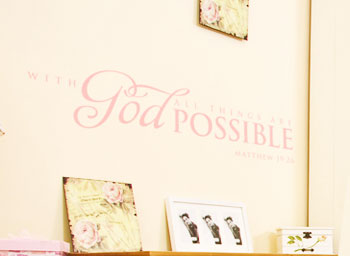 With God All Things are Possible Wall Decal