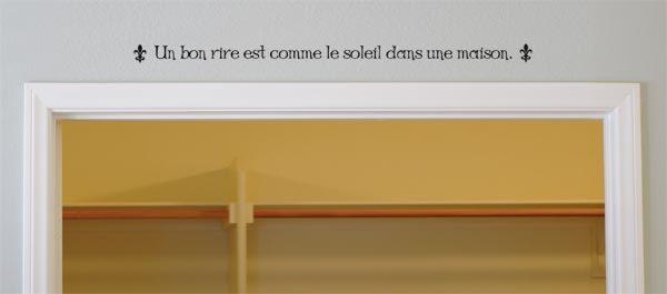 Un Bon Rire Est Comme Le Soletl Dans Une Maison. Wall Decal