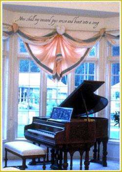 Piano room decorating idea