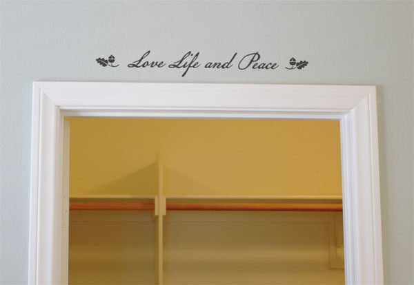 Love, Life and Peace Wall Decal