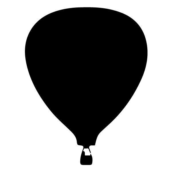 Air Balloon Silhouette LAK 16-L Aviation Wall Decal