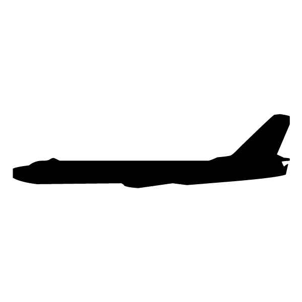 Airplane Silhouette 2B LAK 16 7 Aviation Wall Decal