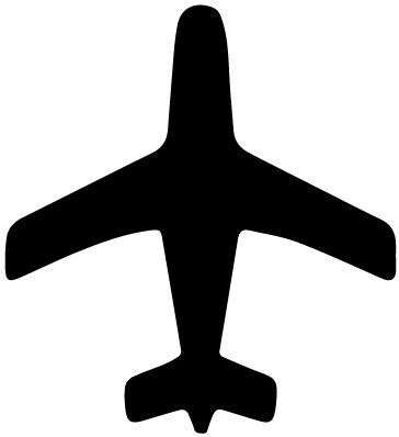 Airplane Silhouette 3 LAK 16 A Aviation Wall Decal
