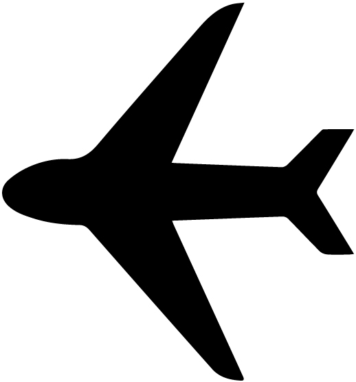 Airplane Silhouette 4B LAK 16 C Aviation Wall Decal